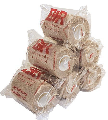 Ever Ready First Aid Self Adherent Cohesive Bandages 3quot x 5 Yards  6 Count Tan