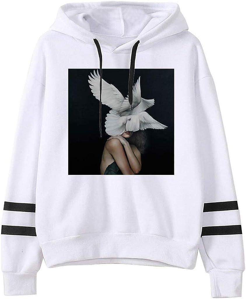 Girls' Hoodie, Misaky Autumn Winter Casual Loose Art Painting Pocket Long Sleeve Pullover Hooded Sweatshirt