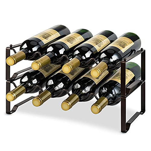 Casier à vin Range Bouteille vin en métal autoportant Le Bar à la Maison 8 Bouteilles