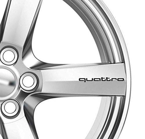 6x Quattro Alufelgen Aufkleber Aufkleber Kleber Premium Qualität TT RS A3