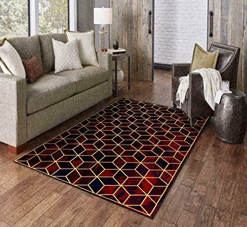 SP Rug For Bedroom Living Rom Huge Carpet Extra Soft Modern Large Runner Door Mats (Blue, W 100 x L 160 cm)