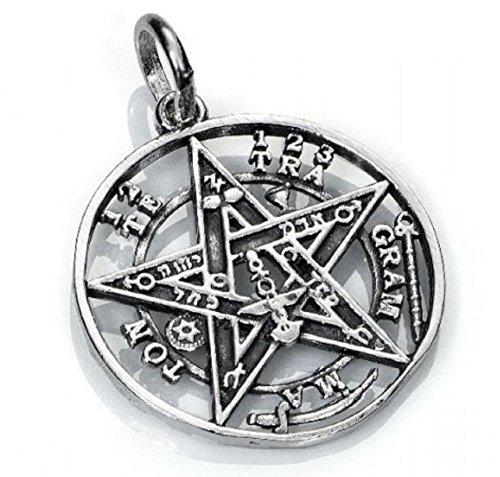 KERALA Colgante Tetragramaton en Plata de Ley. Diámetro 2.10 cm.Amuleto