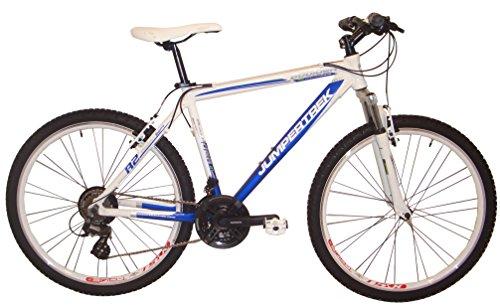 26Pollici Mountain Bike 21Gang Alluminio Cinzia Boulder Prezzo consigliato 329EUR Prezzo Speciale, Bianco-Blu
