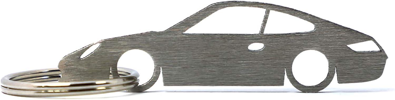 Silhouette Keychain Keyring for 911 (997) Key Fob