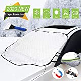 Omew Car Windshield Cover Snow, 5 Layers Magnet Sunshade Waterproof Frost Ice-Resistant Side Mirror Covers Wiper Protector with Anti-Theft Buckle for Most Cars All Weather