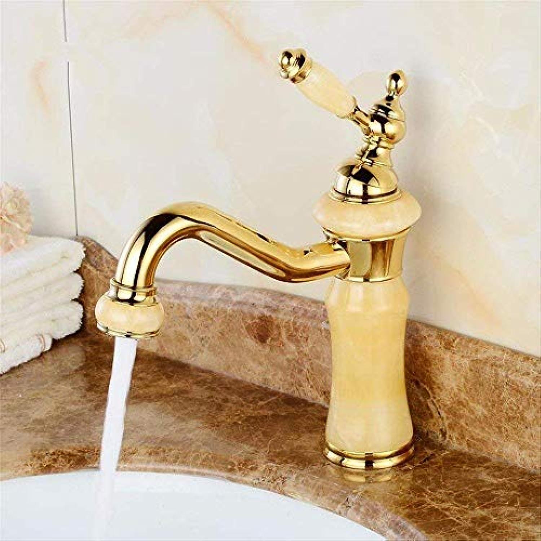 360 ° drehbaren Wasserhahn Retro Wasserhahn einfache Wasserhahn heien und kalten Marmor Kupfer Gold Becken Wasserhahn