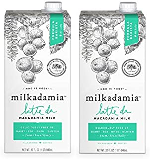 Milkadamia Latte Da Macadamia Milk Barista Blend (32 Oz., 2 Count) - Dairy Free, Vegan