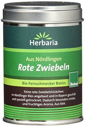 Herbaria Rote Zwiebeln kontrolliert biologischem Anbau, M-Dose, 2er Pack (2 x 50 g)
