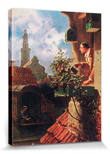 1art1 Carl Spitzweg - Die Dachstube, 1849 Bilder Leinwand-Bild Auf Keilrahmen   XXL-Wandbild Poster Kunstdruck Als Leinwandbild 40 x 30 cm