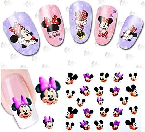 Row_120cc Adhesivos de Uñas 3D, Decoración de Uñas, Para Mujeres y Niños.Mickey *1pcs QJ-693