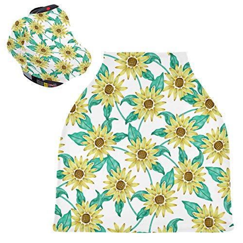 Sunflowers - Fundas de asiento de coche para bebé, unisex, para silla alta, carrito de la compra, para bebés y madres lactantes