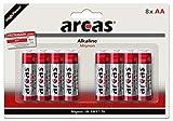 Arcas 117 44806 - Alkaline Batterien 8er Pack, LR06 / AA / Mignon, 2400 mAh, ideal für Uhren, Taschenrechner, Spielzeug, Leuchten und Fernbedienungen
