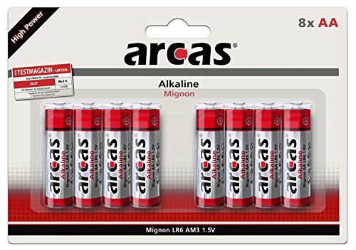 Arcas 11700406LR6AA, 1,5V Batterie, Mehrfarbig, 4Stück pro Packung (Packung mit 8) not Applicable Mehrfarbig