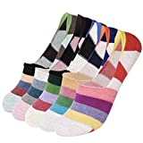 VBG VBIGER Women No Show Liner Socks No-slip Low Cut Casual Socks with Silicone Heel Grip