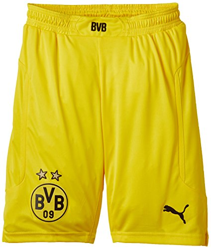 PUMA Kinder Hose BVB Kids Home Replica Shorts, Cyber Yellow-Black, 176, 745907 05