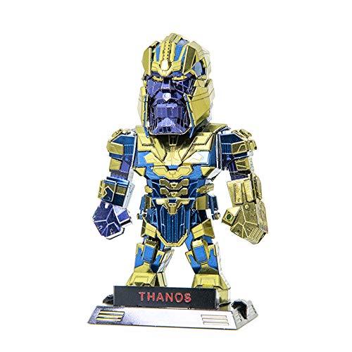 Puzzles Metal 3D, 3D Puzzles Thanos Modelo DIY Ensamble Rompecabezas Metal 3D Kit de Construcción para niños Adultos, Maqueta Metal 3D -Kit Maquetas para Construir Adultos/Adolescente, 6x4.2x9.8 cm