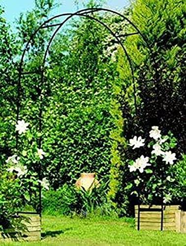 DIVCHI Black Metal Garden Arbor Arch Steel Frame Garden Arch for Climbing Plants, Roses, Indoor/Outdoor, Great for Backyard, Lawn, Patio, Courtyard, Wedding Decorations