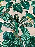 Papageien Stoff Meterware Vögel Material verkauft nach