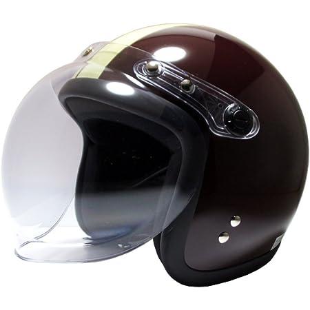 [ビーアンドビー] バイク用 ジェットヘルメット バブルシールド標準装備 SGマーク適合品 ブラウン/アイボリー フリーサイズ BB-004