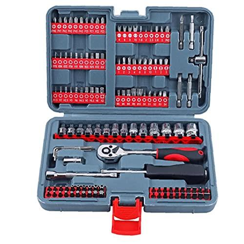 Tool Set 1/4 Quick Release chiave a cricchetto unità metriche insieme dello zoccolo rosso 126pcs Auto Repair Mechanic