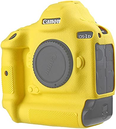 Canon EOS 1DX Mark II Protective Case Professional Silicone Rubber Camera Housing Case Cover Detachable Antiscratch shockproof Full body Protective case for Canon EOS 1DX MARK II (Yellow)