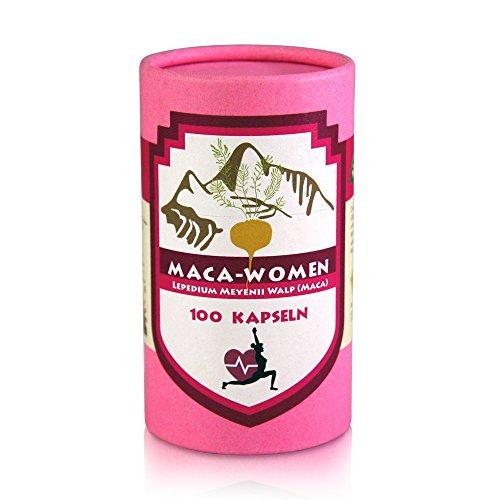 Maca Woman 100 Kapseln aus der roten Maca plus Yamswurzel 16% Diosgenin speziell für Frauen Original aus Peru Junin