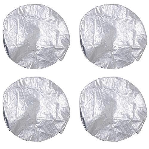 Set di coperture per pneumatici, 4 pezzi Copriruota per camper RV Copri Ruota di Scorta Copriruota per Ruota Protezione UV...