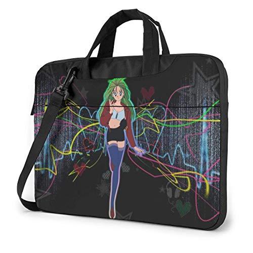 "15.6"" Custodia Borsa PC Laptop Sleeve Case Briefcase Messenger Ragazza Sailor Moon Manico Sacchetto Protettiva per Notebook"