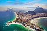 DesFoli Rio de Janeiro Brasilien Skyline Poster Kunstdruck