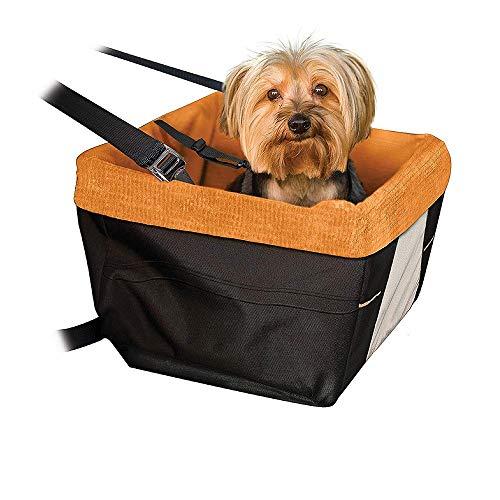 NBSMN Hunde Autositz Universal Waschbar Abriebfest Auto Vordersitz Hundekäfig Zusammenklappbar Hundebett Hundetasche Tragbare Reise Auto Tragetasche 16x12x8 Zoll für Kleine Katzen