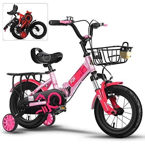 JI TA 20 Pulgadas Bicicletas Infantiles, Bici Plegable niño con Frenos y...