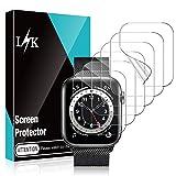 LϟK 6 Stücke Schutzfolie Bildschirmschutzfolie für Apple Watch Series 1 2 3 42mm - Blasenfreie Kompatibel mit Hülle HD klar Flexible TPU Bildschirmschutzfolie