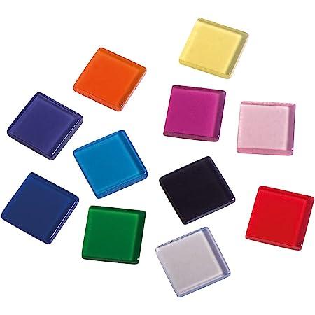 Rayher 14540999 Pierres de mosaïque, multicolore, transparent, acrylique, env. 205 pces., 1X1cm, arts créatifs