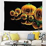 YYRAIN Halloween Tapiz Hogar Arte De La Pared Decoración Bar Banquete Fondo Pared Mantel Multifuncional 59x52 Inch{W150xH130cm}