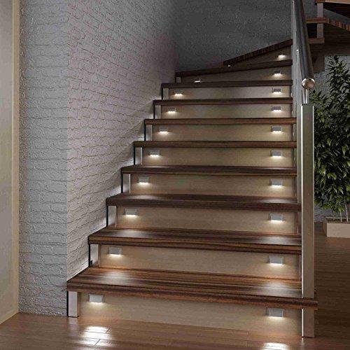 GEA GMBH LED Treppen Stufen Sockel Beleuchtung, Einzelleuchte (weiß)