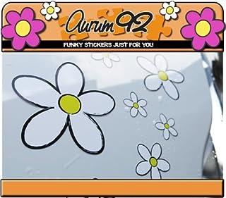 Aurum92 - Pegatinas para Coche (30 Unidades), diseño de Margaritas