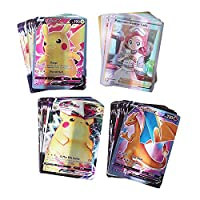 カード 英語ポケモンカードVmax GX.タッグチーム EXメガゲームバトルカルテトレーディング子供のおお気に入り おもちゃ (Color : 100(90V 10TRAINER))