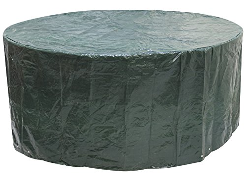 Woodside Large Round Outdoor Garden Patio Furniture Set Cover 2.27m x 1m / 7.4ft x 3.25ft