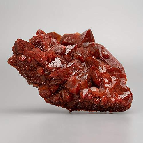 Astro Gallery of Gems Copia de Cuarzo Rojo hematita Cristal Cluster de Marruecos (632,2 Gramos)