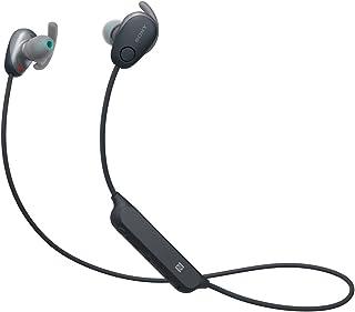 Sony Audífonos Bluetooth deportivos internos con noise cancelling WI-SP600 y control por voz con Amazon Alexa integrado. Negros
