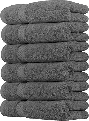 Utopia Towels - Handtücher Set aus Baumwolle 700 GSM - 100% Baumwolle, 41 x 71 cm - 6er Pack (Grau)