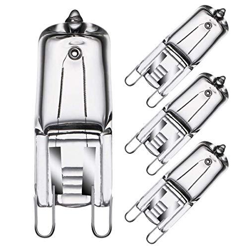 YANGMAN-L Ampoules De Four G9, Ampoule De Capsule Transparente De 40W 230V 2 Broches pour Four Et Micro-Ondes Coiffeuse À La Chaleur Tolérante Tolérante Tolérante Tolérante De Chaleur, 4 Pack