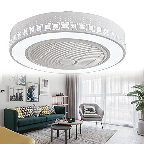 Boracy Ventilador de Techo con Iluminación Luz LED, Ventilador de Techo Modernos Lamparas Ventiladores para Techo Silencioso para Salon Dormitorio Cocina, 3 Velocidades(36W, 55cm)