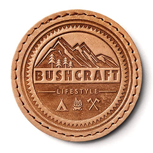Craftigale Bushcraft Lifestyle Leder Patch (leather, natural)