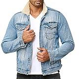 Redbridge Hommes Veste en Jeans Denim Coton Sherpa Trucker Moda Blousons