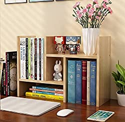 brown wood desk shelf