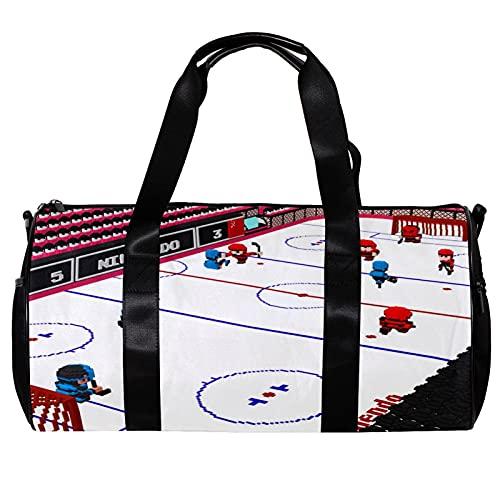 Hockey su ghiaccio Borsone da viaggio Weekender Bagaglio leggero di grande capacità per lo sportivo Campeggio Viaggi Sport 17.7x9x9in