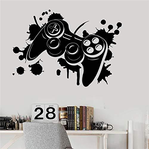 zqyjhkou Vinilo Tatuajes de Pared Joystick Videojuego Arte Gamepad Adhesivos de Habitación para Niños Decoración para el Hogar Sala de Niños Etiqueta de la Pared D450 58 X 81 CM