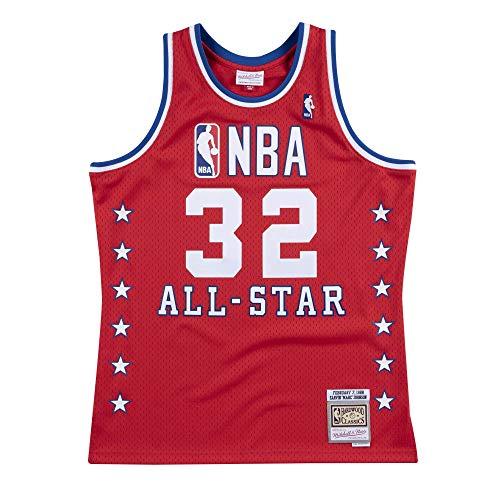 Mitchell & Ness Swingman Jersey All Star West Magic Johnson red XL