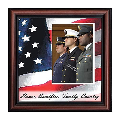 Crossroads Home Décor Freedom Calls, Personalized Military Picture Frame, 6598W